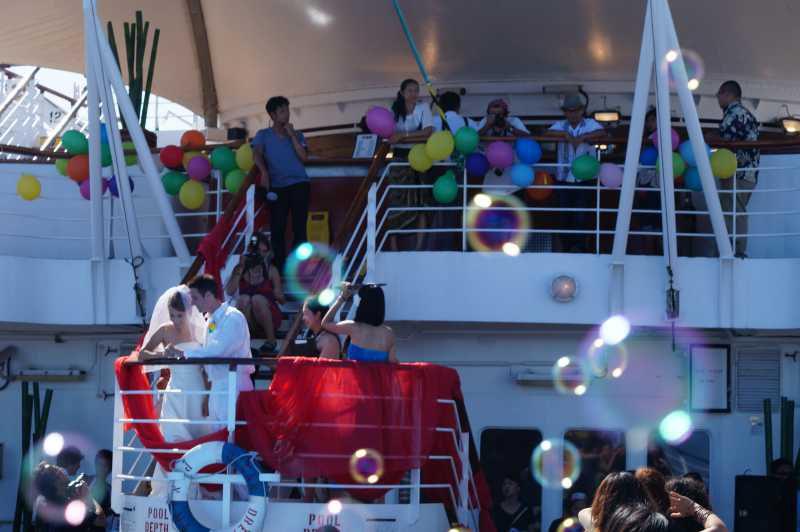 ピースボート78回クルーズ 91日目:洋上結婚式