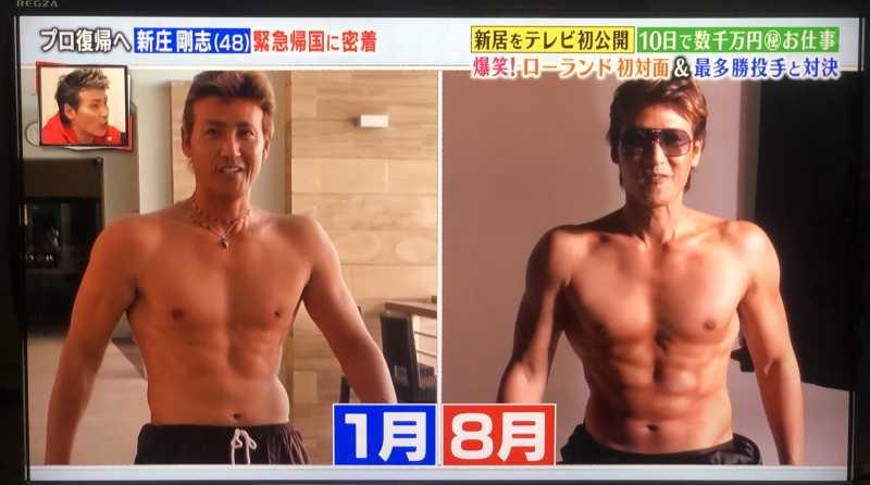 現在の新庄剛志さんの驚きの筋肉。ダイエットのヒントは?トライアウトは?